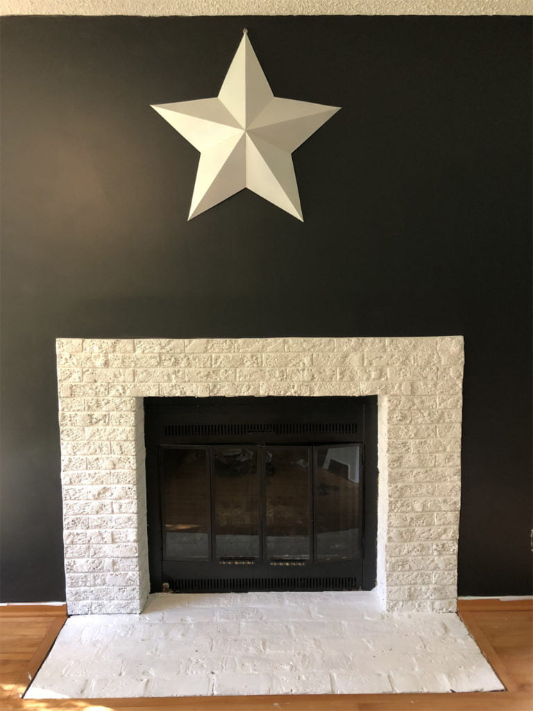 Ugly 80s fireplace makeover - after