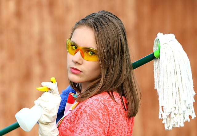 Cleaning someone's house is a perfect no cost gift idea