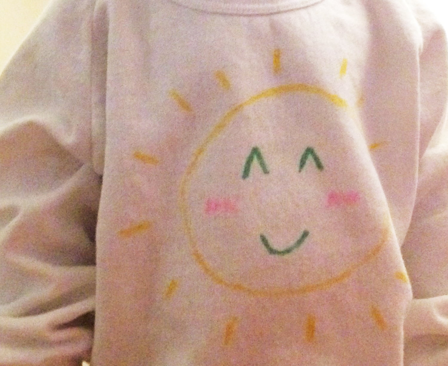Adorable toddler sweatshirt DIY