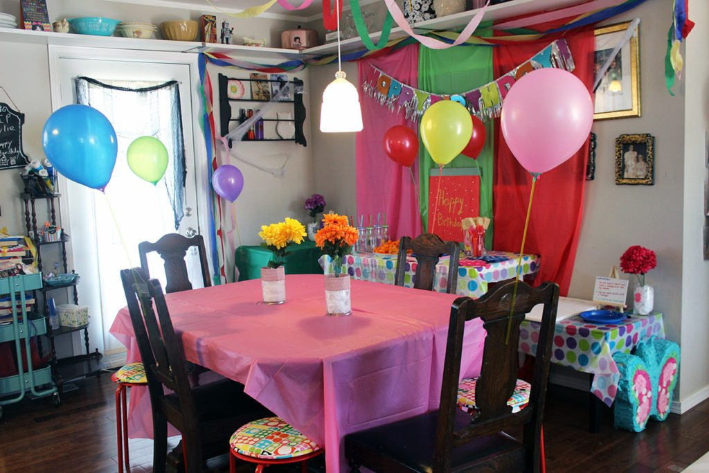 Painting Birthday Party Set up