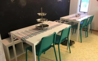 My big family dining table solution