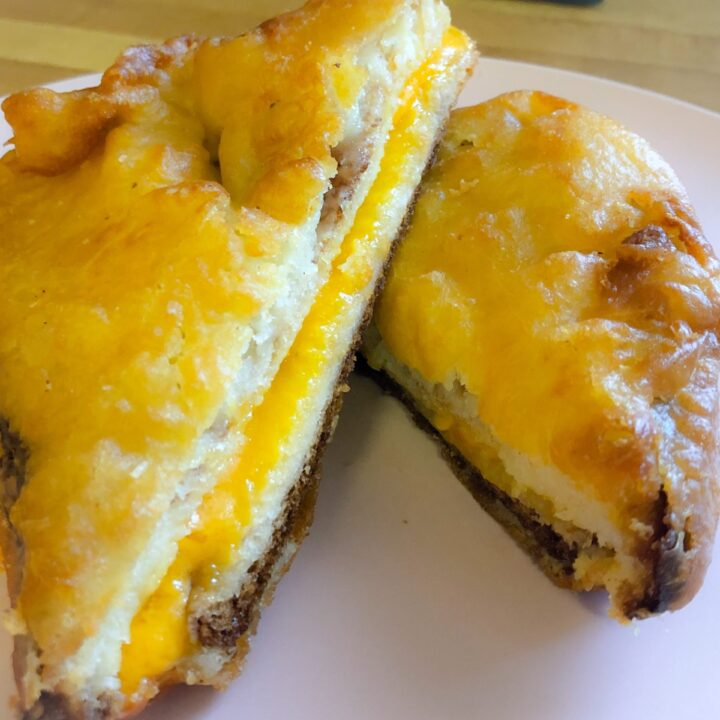 Deep fried grilled cheese sandwich
