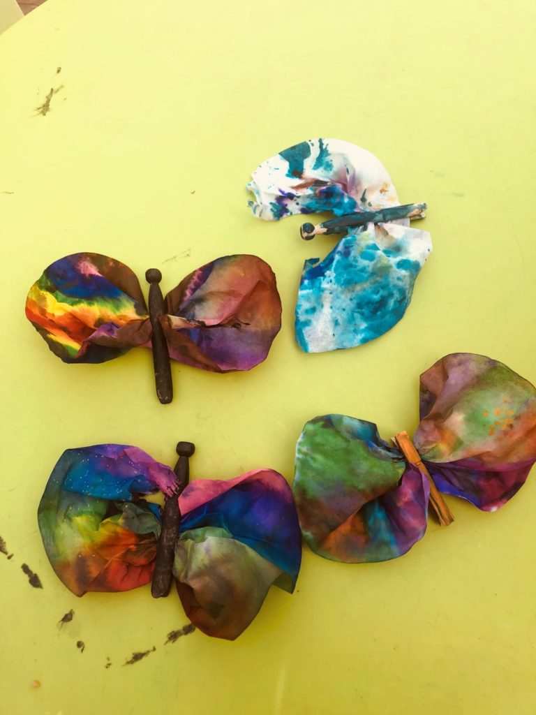 Watercolor Butterflies Craft For Kids