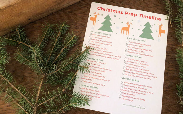 FREE Printable Christmas Prep Checklist