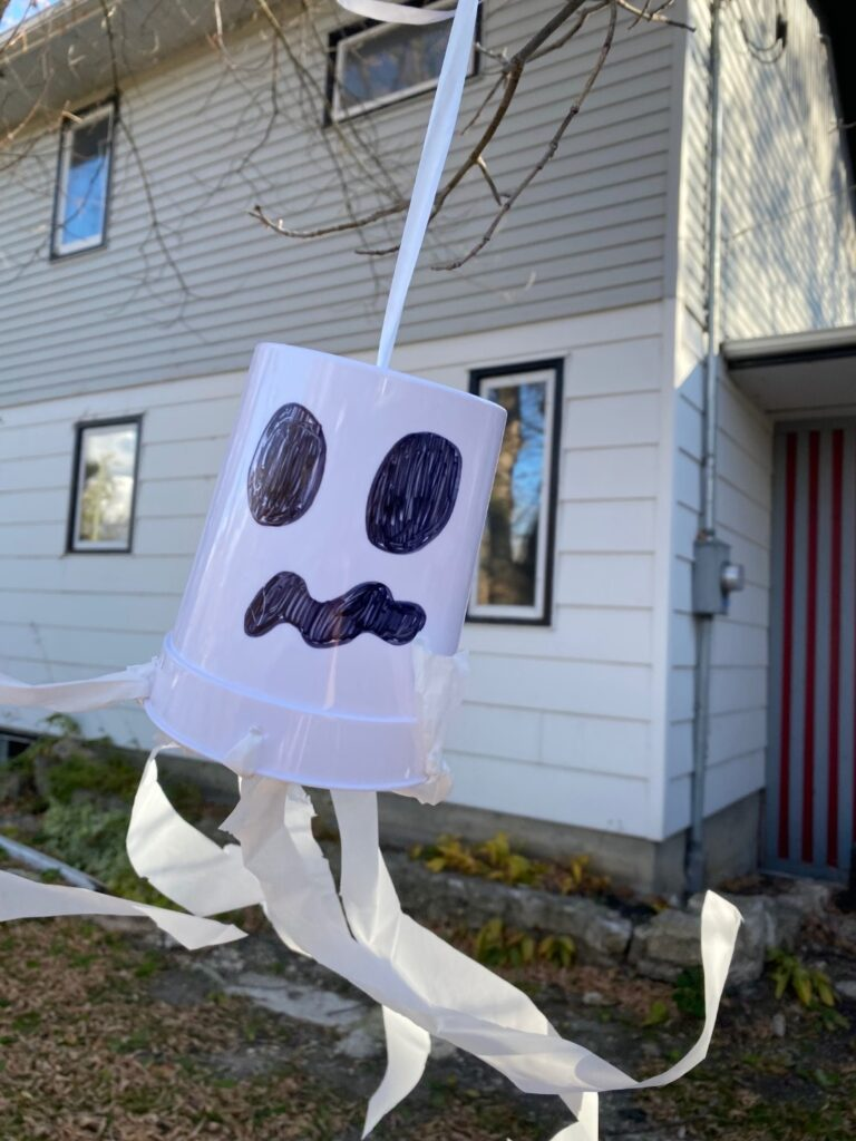 Cute ghost craft hanging outside