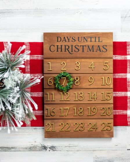 How Many Days Until Christmas? Featured image of a Christmas advent calendar counting down